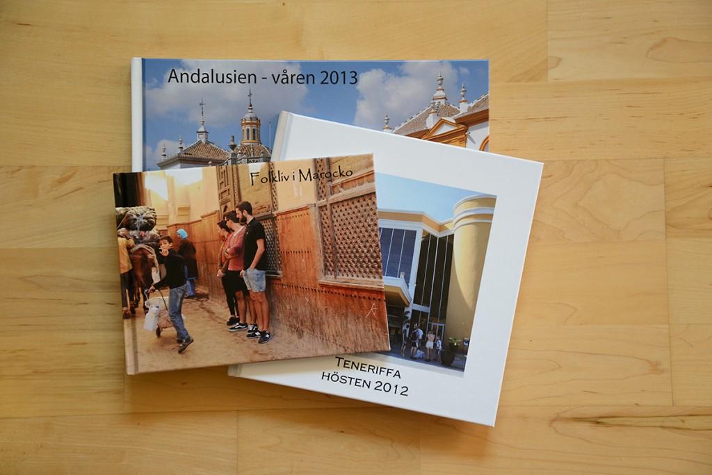 Eva Hallkvist-fotoböcker och almanackor